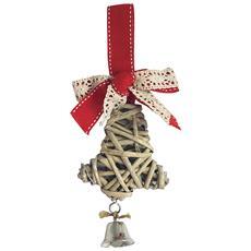Campanella In Vimini Per Albero Di Natale