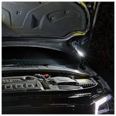 Lamapada da lavoro multiuso 6+1 LED SMD (super luminosi: 350 lm + 80 lm) Con batteria ricaricabile agli ioni di litio Dotata anche di caricabatteria da auto Autonomia fino a 4 ore