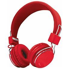 Ziva Padiglione auricolare Stereofonico Cablato Cromo, Rosso auricolare per telefono cellulare