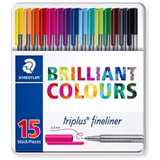 conf. 15 penne punta fibra brilliant colors Staedtler 334M15