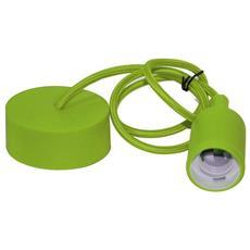 Pendel Pendente Soffitto Colorato Verde Filo 1mt Con Portalampada E27 E Coppetta