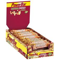 24 X Natural Energy Cereal Bar 40 G - Powerbar - Barrette Energetiche - Fragola - Mirtillo Rosso