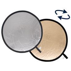Pannello circolare Sunfire / Argento Ø 30 cm