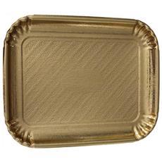 Vassoio Oro Rettangolare 22x30 In Carta 2 Pz