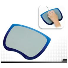 Optical Mouse Mat Pad for Superior Optical Mouse Tracking, Blu, Grigio, Monotono