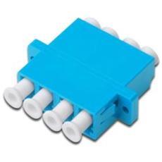 ASSMANN Electronic LC / LC Quad Coupler, LC, LC, Femmina / femmina, Blu, Plastica, 1 pezzi