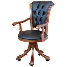 Sedia Poltrona per ufficio classica - H 105 cm