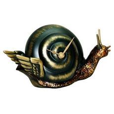 Orologio da tavolo ''Lal? '' in resina decorata a mano Meccanismo al quarzo tedesco UTS Dimensione cm 22x10x12 Colore antico