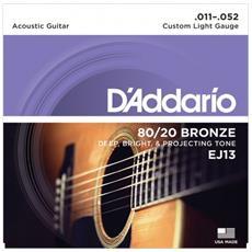 Muta Corde D'addario Ej13 Custom Light 80/20 Bronze 011/052