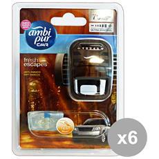 Set 6 Auto Base Anti-tabacco Deodorante Accessori Auto E Moto
