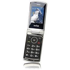 M220 Senior Phone Display 2.4'' +Slot MicroSD Bluetooth con Tasti Grandi Fotocamera Colore Silver / Nero