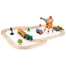 Set Treno Per Trasporto Merci E Gru E3722