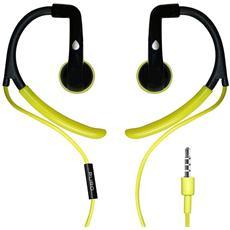 Auricolare Sport con archetto ergonomico + microfono - Verde