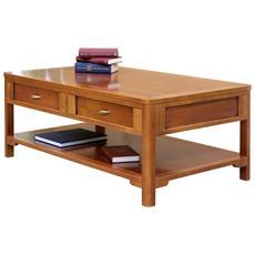 Tavolino in legno da salotto 2 cassetti - L 120 - H 46 - P 70 cm