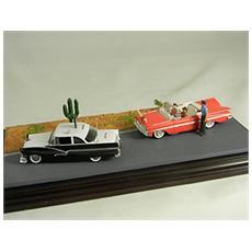 Mwag02 Diorama American Graffiti 2 Auto + 3 Modellino