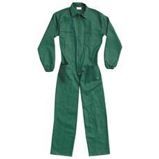 Tuta In Cotone Colore Verde Taglia 44