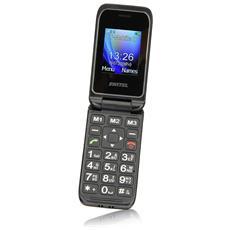 """M210 Senior Phone Display 2"""" con Tasti Grandi + SOS Fotocamera Colore Nero"""