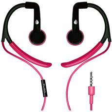 Auricolare Sport con Archetto Ergonomico + Microfono - Rosa