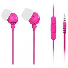 Auricolari con Microfono Colore Rosa
