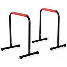 Parallele Fitness Per Il Potenziamento E La Tonificazione Muscolare In Tubi D'acciaio, Altezza 73cm