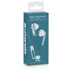 """San Francisco, Stereofonico, Interno orecchio, Blu, Cablato, 3.5 mm (1/8"""") , 20 - 20000 Hz"""