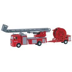 DieCast 1:72 Vigili del Fuoco Camion Man Gru + Carrello Pompa 58002