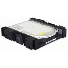 DiskTwin Black Aluminum | Reduce HDD Vibration Noise & Improve Cooling, 105g, 146,81 x 26,15 x 18,8 mm
