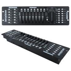 Console Dj 192 Canali Dmx512 Controllo Luci 12 Scanner Di 16 Canali Ciascuno 30 Banchi Di 8 Scene Programmabili Disco Discoteca