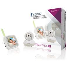 """Babymonitor per Neonati e Bambini con Video Digitale e Schermo LCD da 3,5"""" 2,4 GHz"""