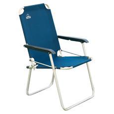 Sedia Relax Poliestere Blu