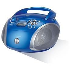 Radio portatile con lettore CD supporto MP3 / WMA Colore Blu / Silver