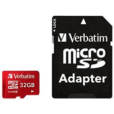 MicroSDHC Pro+ da 32GB Class 10 UHS-I + adattatore