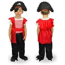 616969 Costume Carnevale Travestimento Corsaro Bambino Da 3 A 12 Anni - 6/8 Anni