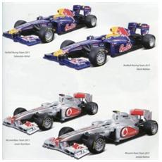 DieCast 1:32 Auto Formula 1 RedBull / McLaren 4modelli (Sogg. casuale) 41201
