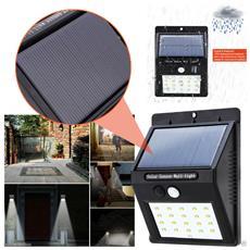Faretto Solare Da Giardino Con Pannello Ricaricabile Dalla Luce E Sensore Di Movimento