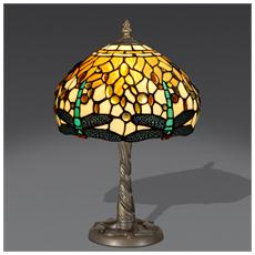 Abat-jour Dragonfly Lampada Da Comodino In Vetro Stile Tiffany