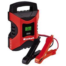 Caricabatterie Elettronico CC-BC 10 M per Auto e Moto con Display LCD Colore Nero e Rosso