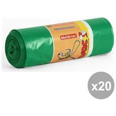Set 20 80x120 Pesanti Verdi X 10 Pezzi Virosac Riordino