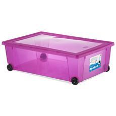 Scatola Rollbox 59x39x18.5 Magenta Sistemazione Casa