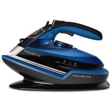 Ferro a Vapore Senza Filo Freemove DE5010 Ricarica Rapida 2400W Colore Nero / Blu Base Ergonomica RICONDIZIONATO