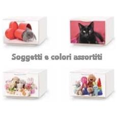 Contenitore Mini Q-Box, Impilabile, L. 15,5xp. 20xh. 10,5 Cm, Fantasie Assortite Animal&Baby 1
