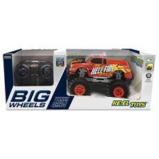 Re. el Toys Pick Up Big Wheels Rosso-scala 1/20 Mezzi Giocattolo Jeep E Quad, Multicolore, 8001059021222