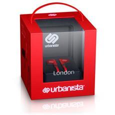 """London 3.0, Stereofonico, Interno orecchio, Rosso, Cablato, 3.5 mm (1/8"""") , Intraurale"""