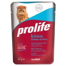 Cibo per gatti Kitten Chicken & Rice 85 gr