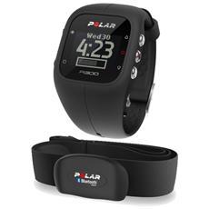 Activity Tracker A300 con Bluetooth e Cardiofrequenzimetro Colore Nero