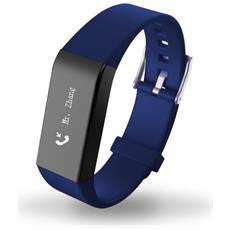 Smart Braccialetto Fitness Activity Touch Screen Blu A6 Cardiofrequenzimetro