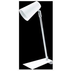 94394 Travale Lamp. Tavolo 1lx3w Gu10 Led Acciaio Bi-cromo