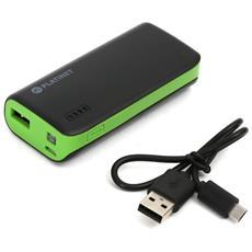 4400mAh, Ioni di Litio, USB, Nero, Verde, USB, Universale