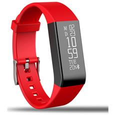 Smart Braccialetto Fitness Activity Touch Screen Rosso A6 Cardiofrequenzimetro