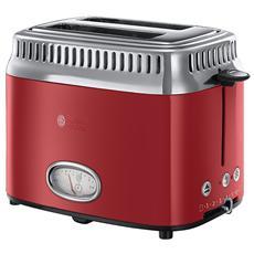 RUSSELL HOBBS - Tostapane Retro Red Ribbon 21680-56 Acciaio inox...